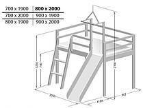 Ігрове ліжко Берест 90х200 (BR54), фото 3
