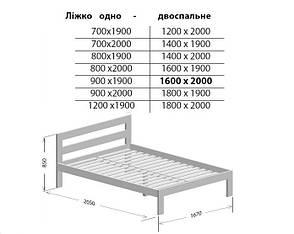 Односпальне ліжко Берест Талія 80х190 (BR97), фото 2