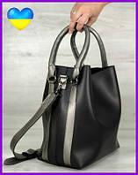 Женская стильная сумка, молодежная женская сумка, сумка женская через плечо черного цвета