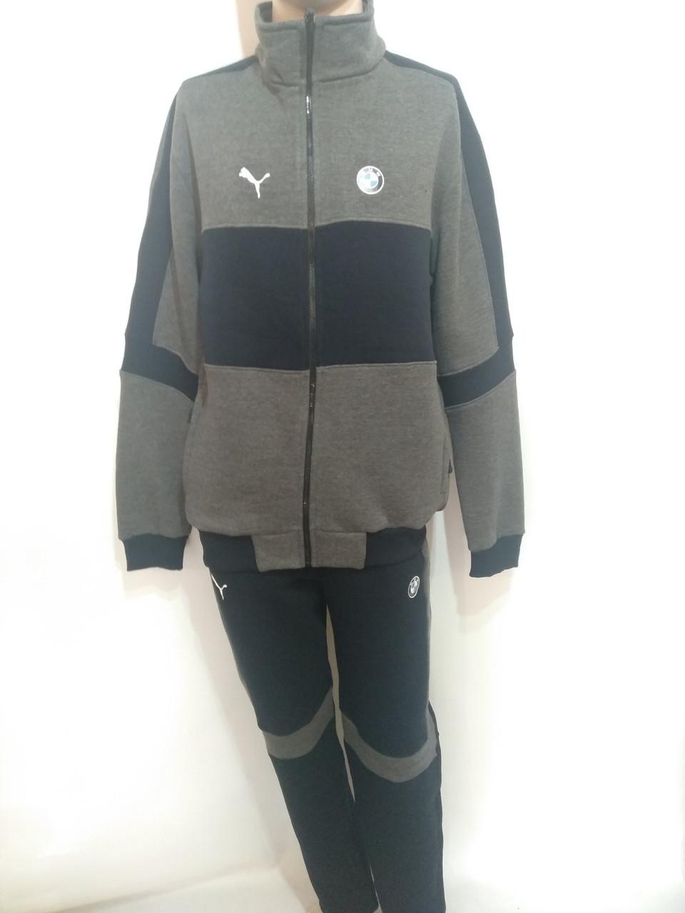 Мужской теплый спортивный костюм в стиле Puma 54 р.