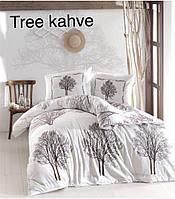 """Евро-комплект постельного белья """"Altinbasak"""" Tree kahve  Ранфорс. Турция"""