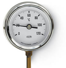 Термометр Arthermo AR-T/RAD 80 (Ø80 мм, гильза 100 мм, 0-120°С)