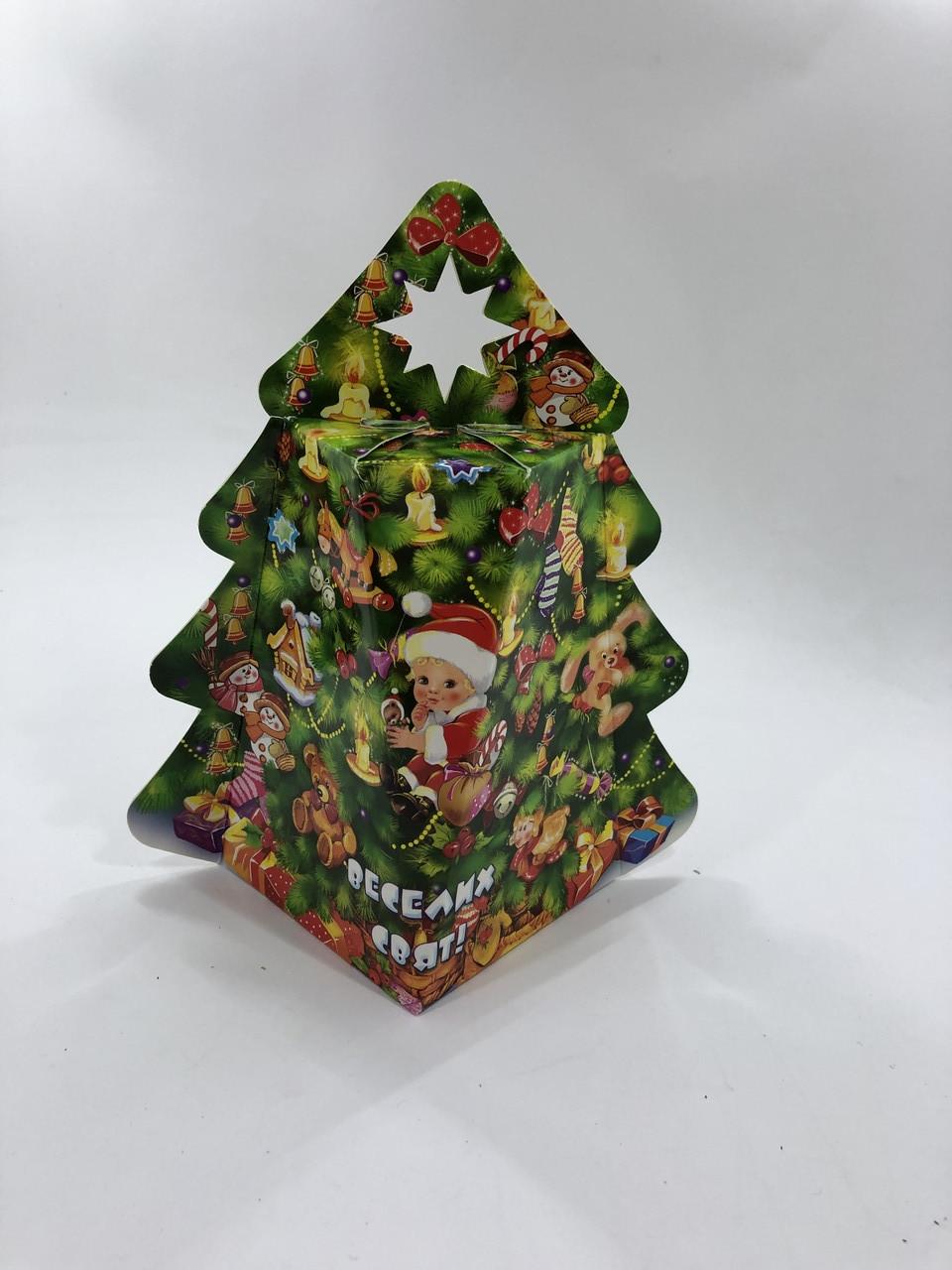Новогодняя подарочная упаковка для конфет Елка 250 грамм