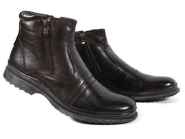 Мужские зимние ботинки на молниях ROZOLINI 1250-9-6M кор  39