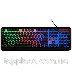 Проводная игровая клавиатура с Led подсветкой, Black (G101001249)