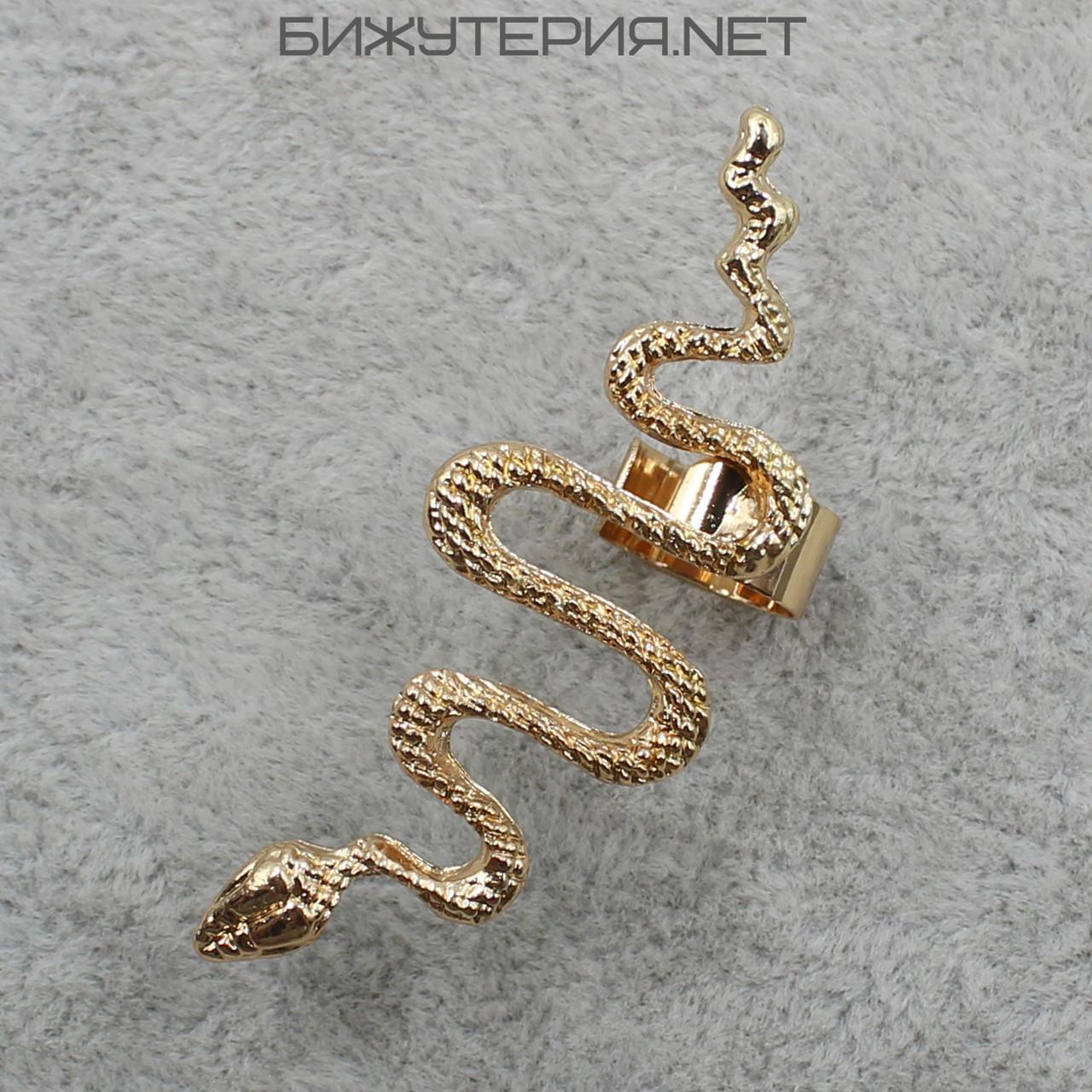 Серьги Каффы JB Змея в золотом цвете - 1064854739