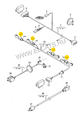 Разьем 3-х контактный датчика температуры,детонации,давления кондиционера WAG на Audi,Seat,Skoda,VW, фото 2