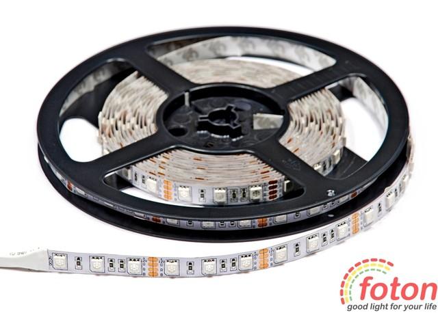 Профессиональная cветодиодная лента SMD 5050 (60 LED/m) RGB IP20. LED лента. LED освещение.