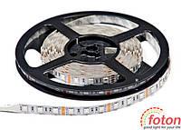 Профессиональная cветодиодная лента SMD 5050 (60 LED/m) RGB IP20. LED лента. LED освещение., фото 1