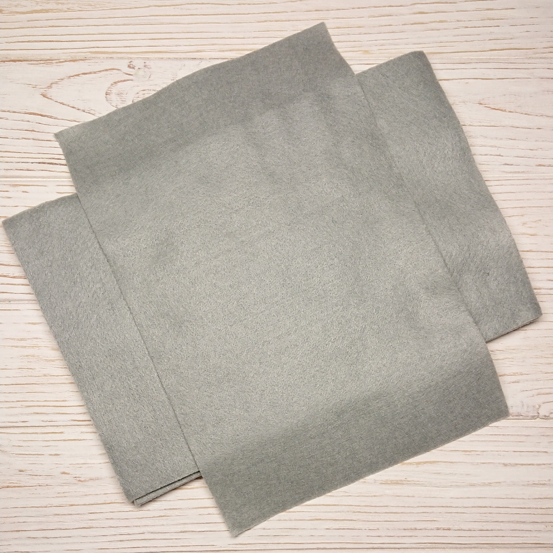 Фетр мягкий 1.3 мм, Royal Тайвань стальной 20*30 см