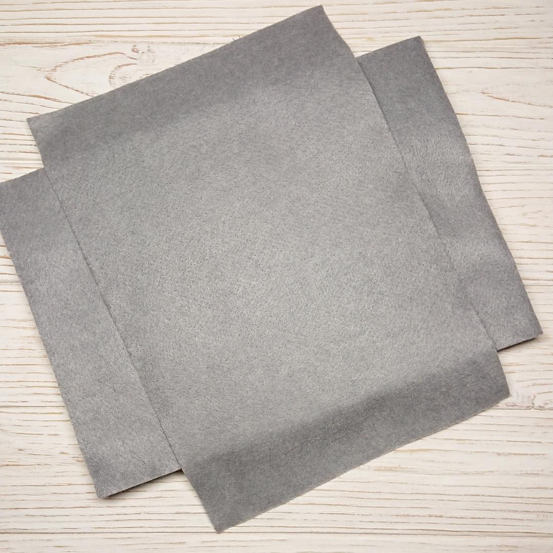 Фетр мягкий 1.3 мм, Royal Тайвань серый холодный 20*30 см