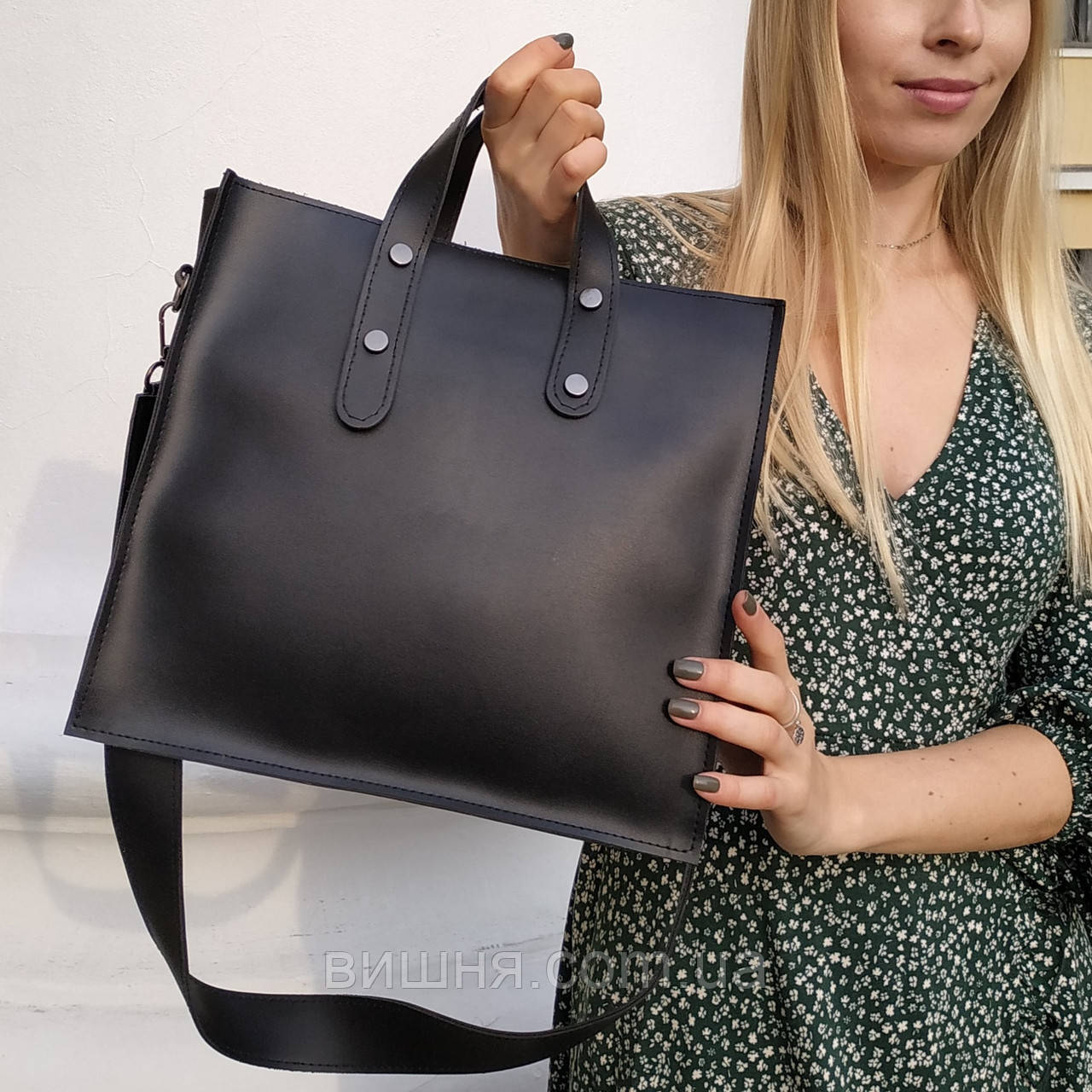 """Женская повседневная сумка на длинной ручке """"Илона Black"""", фото 1"""