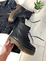 ДЕМИ и ЗИМА! Тренд сезона. Кожаные ботинки Dr.Martens женские ботинки черные 36