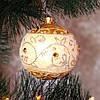 """Новогодний шар """"Цветочная лоза"""" 80 мм"""