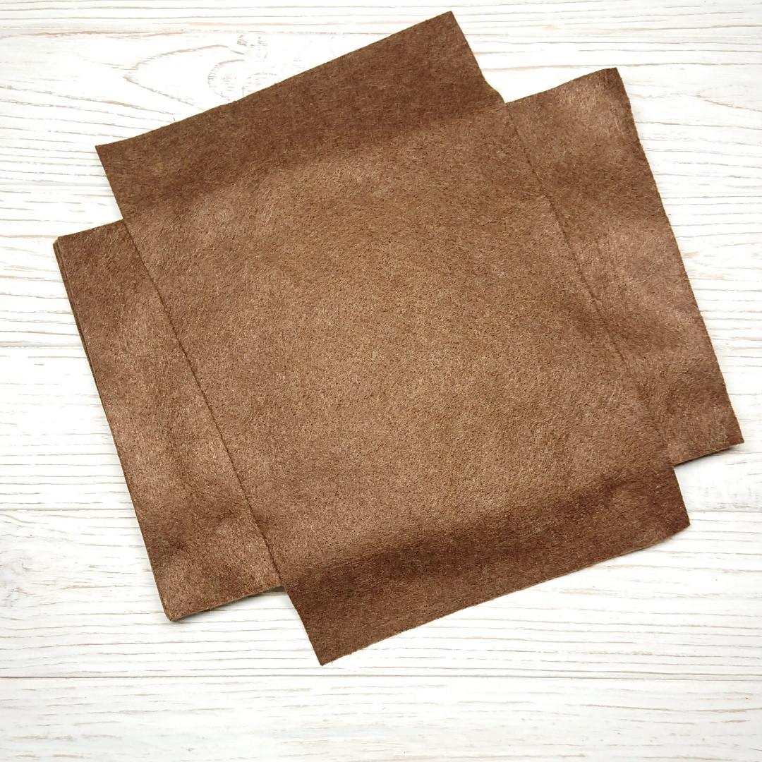 Фетр мягкий 1.3 мм, Royal Тайвань темно-коричневый 20*30 см