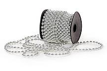 Бусы пластиковые Bonita 5 мм* 10 м Серебро (147-128)