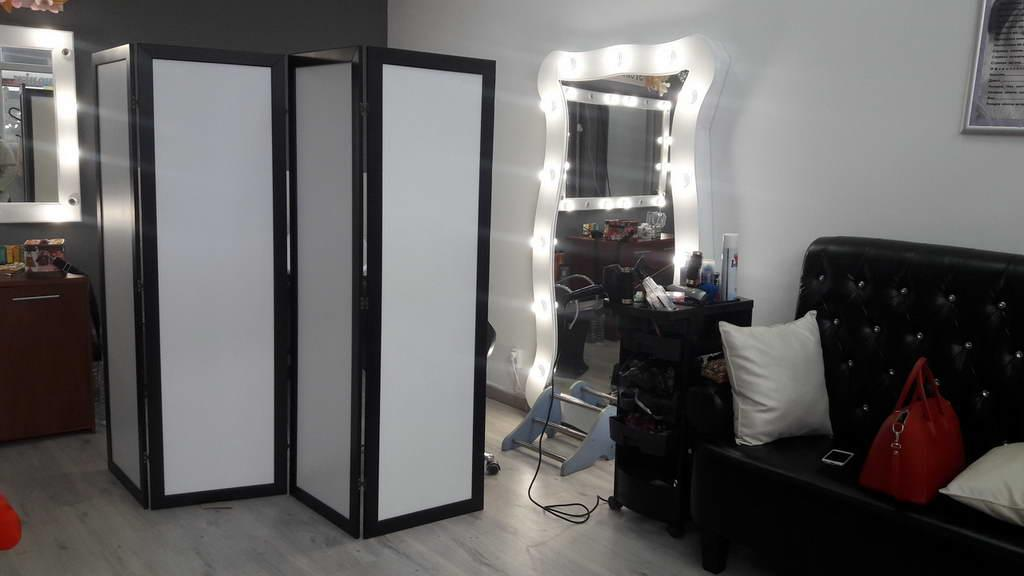 Ширма ДекоДім Економ на 1 секцію 120х170 см, чорно-біла (DK11-00)