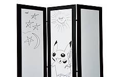 Ширма ДекоДім Економ на 1 секцію 120х170 см, чорно-біла (DK11-00), фото 2