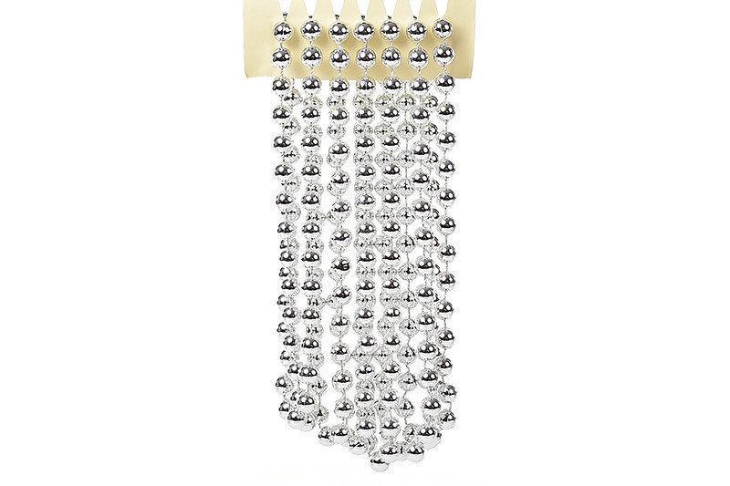 Бусы пластиковые Bonita 10мм * 2,7 м Серебро (147-131)