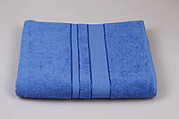 Махровая простынь синяя, размер 150/200 см Узбекистан