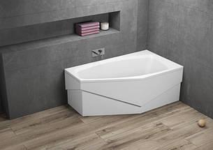 Ванна Polimat Marika асиметрична 140х80, R + ніжки (00795), фото 2