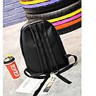 Рюкзак Pink чёрный женский Strength knight (AV216), фото 4