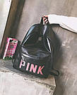 Рюкзак Pink чёрный женский Strength knight (AV216), фото 8