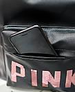 Рюкзак Pink чёрный женский Strength knight (AV216), фото 6