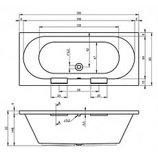 Ванна Riho Daytona пряма 180*80 см + ніжки (BB51), фото 3