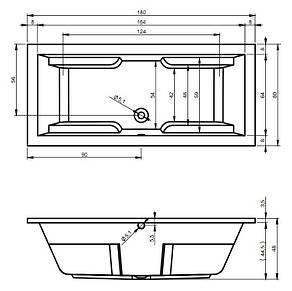 Ванна Riho Genova пряма 180*80 см + ніжки (BB87), фото 2
