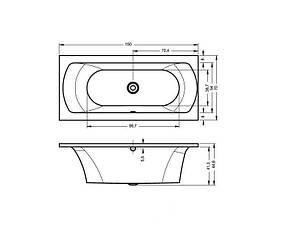 Ванна Riho Lima пряма 150x70 см + ніжки (ВВ40), фото 2
