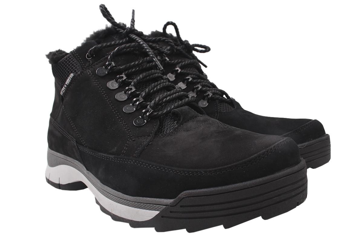 Ботинки мужские зимние Vadrus нубук, цвет черный, размер 40-45