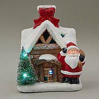"""Фигурка светящаяся """"Дед Мороз возле домика"""" 4 шт. в упаковке (008NK)"""