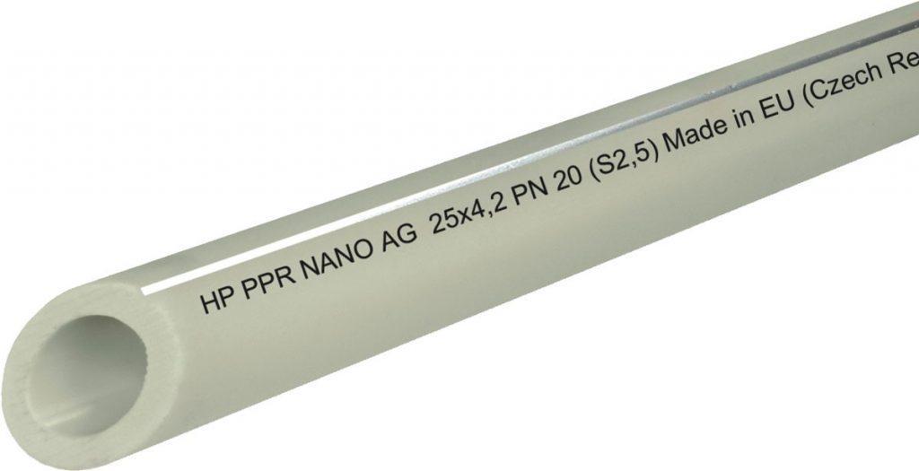 Труба HP PPR NANO AG антибактериальная PN 20 25х4,2 - Антибактериальные трубы HP PPR NANO AG – вода без скрытой угрозы.