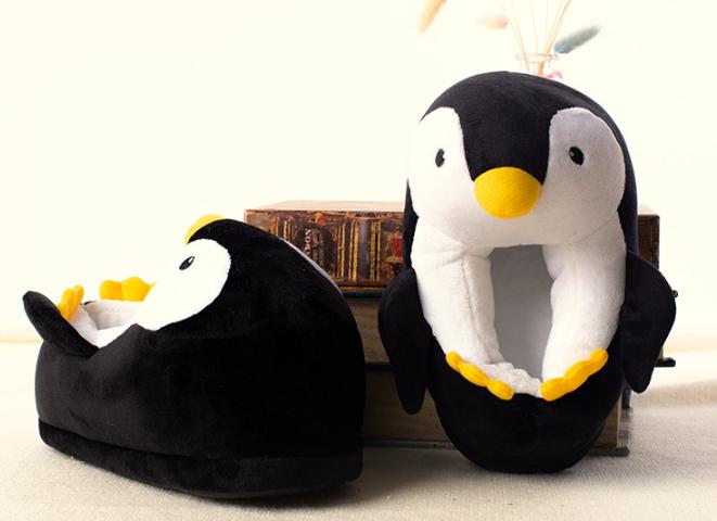 Тапочки Пингвины, размер универсальный 29-31