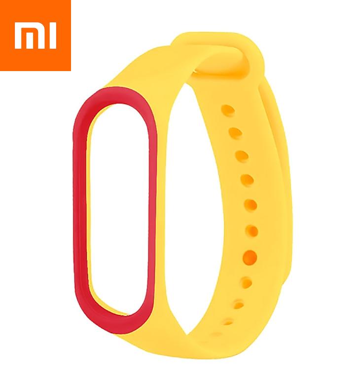 Ремешок для Xiaomi Mi Band 4 Желто-Красный Оригинальное Качество