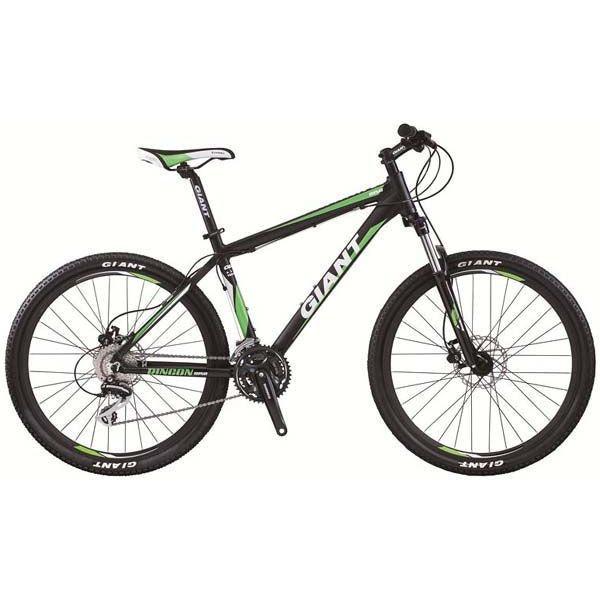 Горный велосипед Giant Rincon Disc матовый черный/зеленый L/21 (GT)