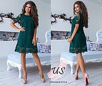 Короткое расшитое вечернее платье. 5 цветов!, фото 1