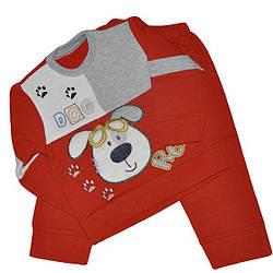 Детский трикотажный костюмчик на байке, размер  6-12-18  мес (3 ед. в уп.) Рисунок 2