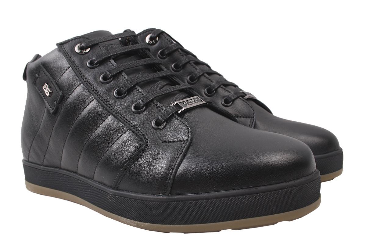 Ботинки мужские зимние Brionis натуральная кожа, цвет черный, размер 40-45