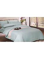 Евро комплект постельного белья двуспальный Страйп-Сатин Голубой 240х220 см (544610)
