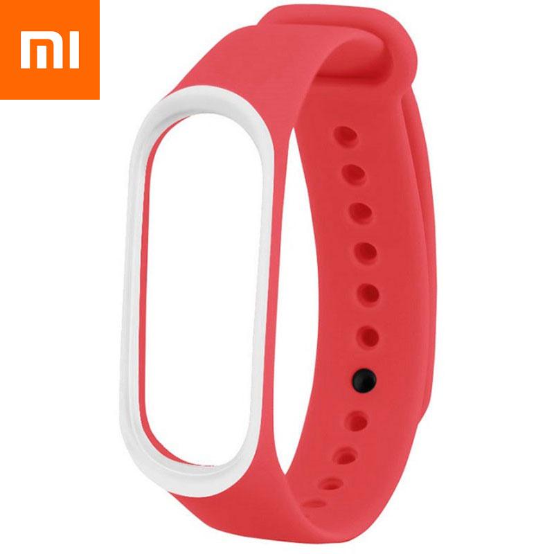 Ремешок для Xiaomi Mi Band 4 Красно-Белый Оригинальное Качество