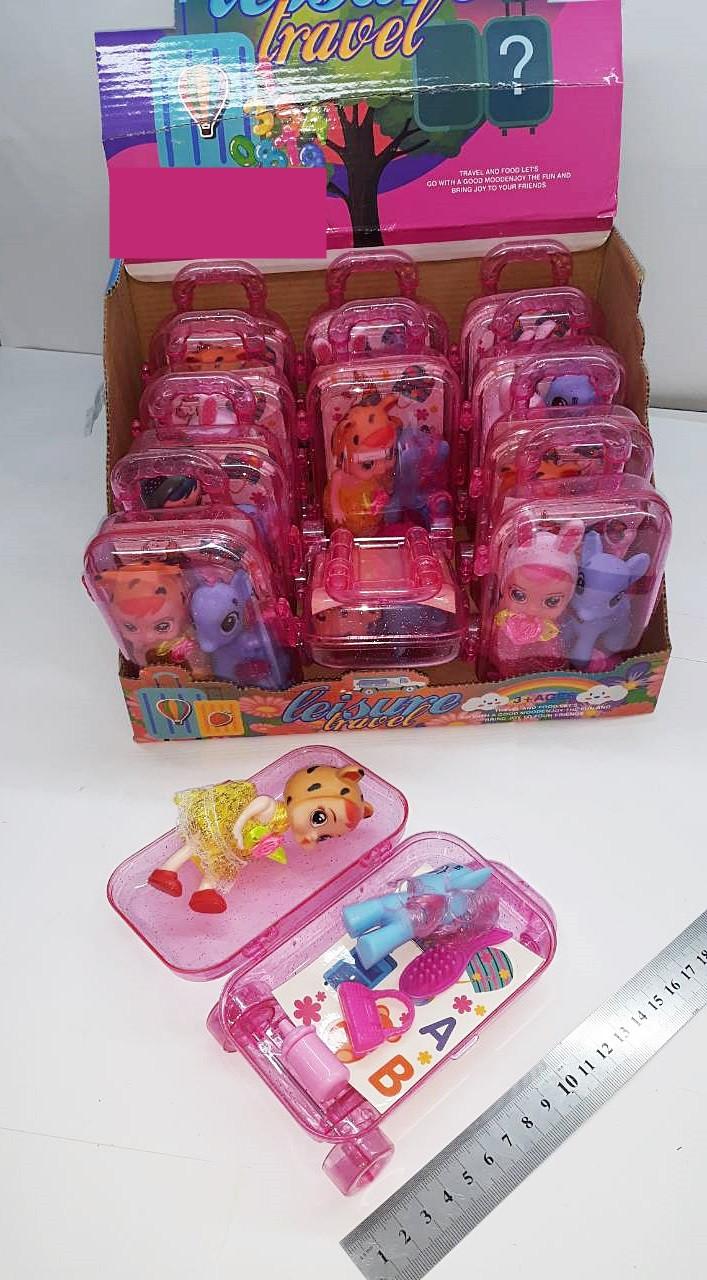 Кукла с пони в чемодане