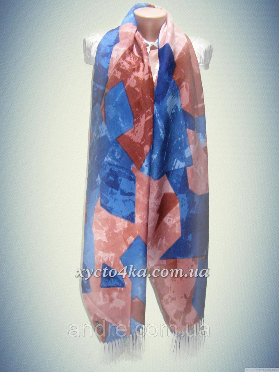 Кашемировые шарфы мозаика, синий