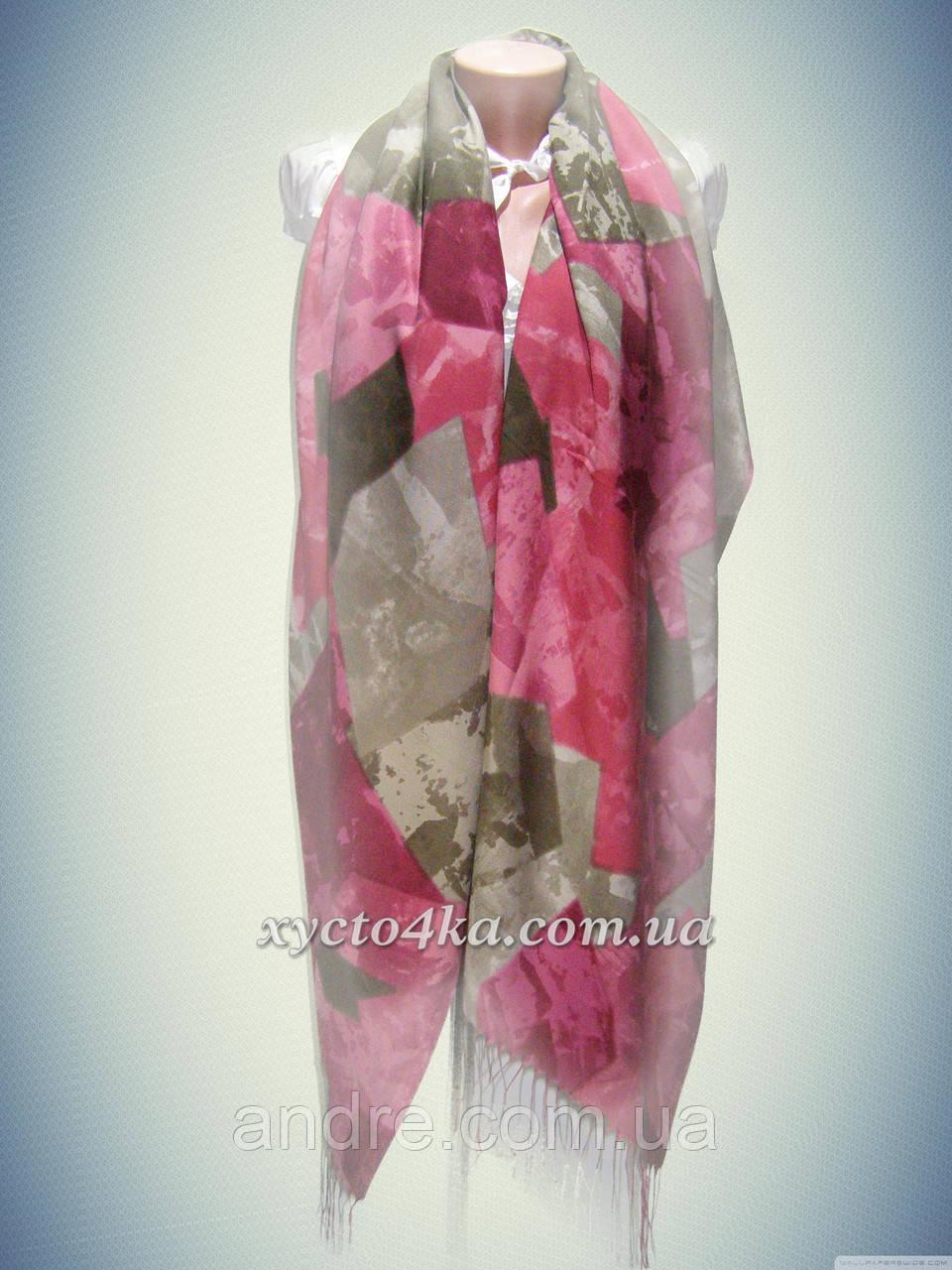 Кашемировые шарфы мозаика, бордовый