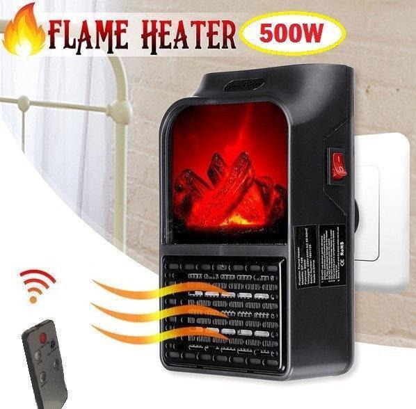 Портативный обогреватель камин FLAME HEATER с LCD дисплеем и имитацией камина с пультом