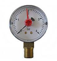 Манометр Arthermo MA504/P, 1/4″ (Ø50 мм, 0-25 бар)