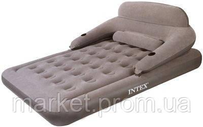 Новинка 2010 года! Надувной матрас со спинкой и электрическим насосом Convertible Lounge Bed Intex 6