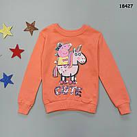 Утепленный свитшот Peppa Pig для девочки. 122-128 см, фото 1