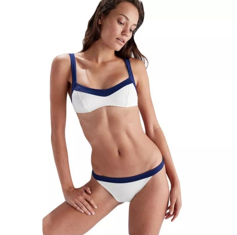 Белый женский раздельный купальник в стиле PEPE JEANS размер М